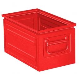 Stapelkasten ST5 aus Stahlblech, 13 Liter, LxBxH 350 x 200 x 200 mm, rot