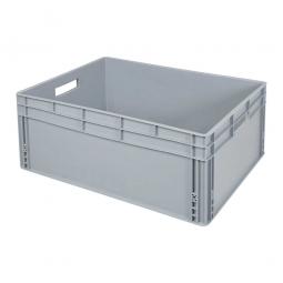 Eurobehälter mit 2 Durchfassgriffe, LxBxH 800 x 600 x 320 mm, 130 Liter, grau
