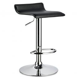 Bar- und Tresenhocker, Sitzhöhe 660 - 860 mm, Farbe schwarz, belastbar bis 110 kg, Sitz um 360° drehbar