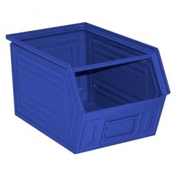 Sichtbox SB5 aus Stahlblech, 11 Liter, LxBxH 350/300 x 200 x 200 mm, blau