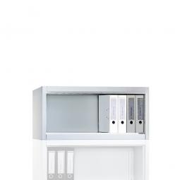 Aufsatzregal, 1 Ordnerhöhe, BxTxH 930 x 400 x 500 mm, lichtgrau