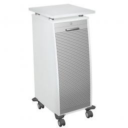 Bürocaddy mit Stahlschubladen, weiß, BxTxH 515x600x1155 mm