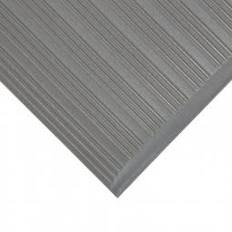 Bodenmatte, mit Rillenoberfläche, grau, LxB 1500x900 mm, Stärke 9 mm, Vinyl-Schaum-Belag