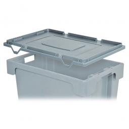 """Stülpdeckel für Euro-Dreh- und Stapelbehälter, """"Classic"""" LxB 600x400 mm, grau"""