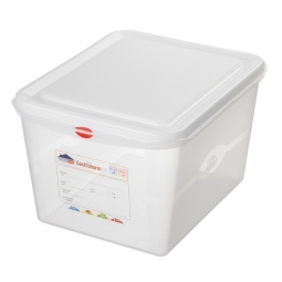 GN-Vorratsdose/Frischhaltebox GN1/2 mit Deckel, LxBxH 325 x 265 x 200 mm, 12,5 Liter