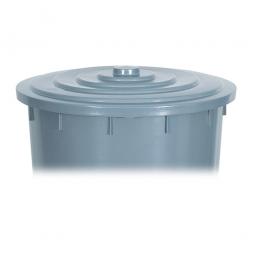 Deckel für Rundtonne 200 Liter, grau
