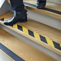 Anti-Rutsch-Band, schwarz/gelb, LxB 18300x50 mm, Rutschsicherheit nach EN13552 Kategorie R13