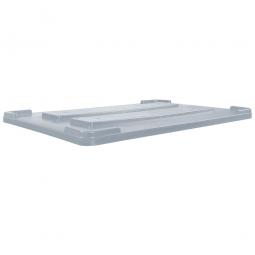 Stapeldeckel für verrippte Palettenboxen, LxB 1200x800 mm, grau