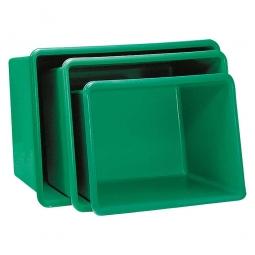 Rechteckbehälter aus GFK, Inhalt 200 Liter, grün, LxBxH 880x570x600 mm, Gewicht 8 kg