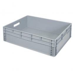 Eurobehälter mit 2 Durchfassgriffe, LxBxH 800 x 600 x 220 mm, 87 Liter, grau