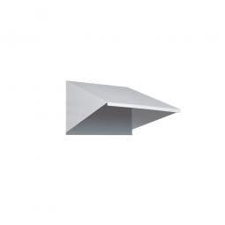 Schrägdach-Aufsatz für Schränke 300 mm breit, lichtgrau