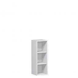 Büroregal PRO, 3 Ordnerhöhen, weiß, BxTxH 800x425x1152 mm