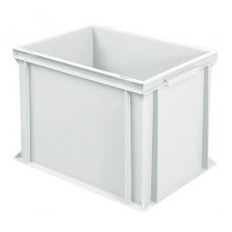 Eurobehälter mit 2 Griffleisten, LxBxH 400 x 300 x 320 mm, 31 Liter, weiß