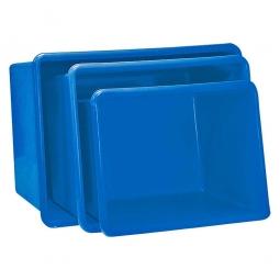 Rechteckbehälter aus GFK, Inhalt 300 Liter, blau, LxBxH 1180 x 700 x 530 mm, Gewicht 14 kg