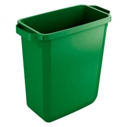 Abfall- und Wertstoffbehälter, eckig, 60 Liter, BxTxH 590x282x600 mm, grün