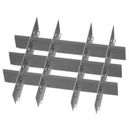 Metalleinteilung, 20 Fächer, Für Schubladen mit Innenmaß 500x450 mm