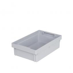 Einsatzkasten 1/4 für Euro-Stapelbehälter -Profi-, grau, Polypropylen-Kunststoff (PP)