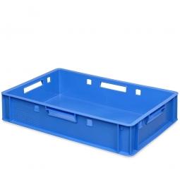 E1-Fleischkasten, LxBxH 600 x 400 x 125 mm, PE-HD, 25 Liter, blau