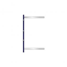 Kragarm-Anbauregal, leichte Ausführung, doppelseitige Nutzung, BxTxH 1060 x 2x600 x 1980 mm, Gesamttragkraft 1120 kg