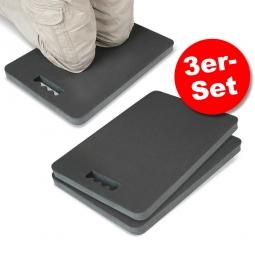 3er-Set Knieschutzmatten, LxBxH 480 x 320 x 33 mm, PVC-Nitril-Mischung, anthrazit