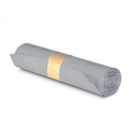Müllsäcke, grau, 100 Liter, Stärke 20 µm, BxH 780 x 990 mm, VE = 50 Stück