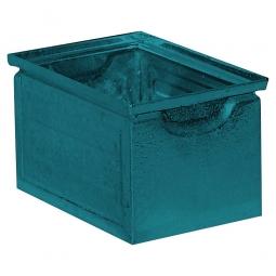 Stapelkasten ST7 aus Stahlblech, 3,6 Liter, LxBxH 200 x 140 x 130 mm, blaugrün