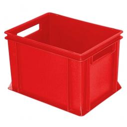 Eurobehälter mit 2 Durchfassgriffen, LxBxH 400 x 300 x 270 mm, 26 Liter, rot