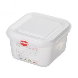 GN-Vorratsdose/Frischhaltebox GN1/6 mit Deckel, LxBxH 176 x 162 x 100 mm, 1,7 Liter