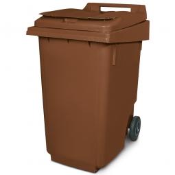 Müllbehälter, 360 Liter, braun, BxTxH 600 x 875 x 1100 mm, Polyethylen (PE-HD)