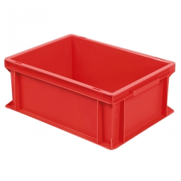 Euro-Geschirrkasten, LxBxH 400x300x170 mm, mit 2 Griffleisten, rot