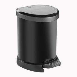Tretabfalleimer, 5 Liter, HxBxT 227x246x210 mm, Deckel/Korpus schwarz