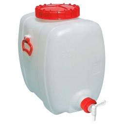Getränkefass 100 Liter, BxTxH 410 x 650 x 580 mm, naturweiß, PE-HD