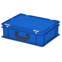 Euro-Koffer, LxBxH 400x300x130 mm, blau, mit 1 Tragegriff auf einer Längsseite