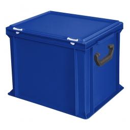 Euro-Koffer, LxBxH 400x300x330 mm, blau, mit 2 Tragegriffen auf den Stirnseiten