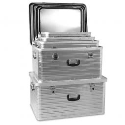 5x Aluminium-Behälter im Set, 27 - 141 Liter