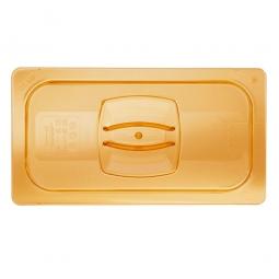 Auflagedeckel für Schale GN1/3, LxB 325x176 mm, Ultem-Kunststoff, bernsteinfarben