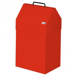 Wertstoffsammler, stationär, Inhalt 45 Liter, BxTxH 330x310x640 mm, rot