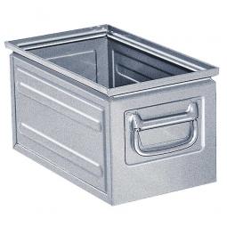 Stapelkasten ST5 aus Stahlblech, 13 Liter, LxBxH 350 x 200 x 200 mm, feuerverzinkt