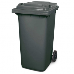 Müllbehälter, 240 Liter, grau, BxTxH 580 x 730 x 1075 mm, Polyethylen (PE-HD)