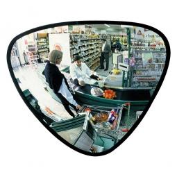 Dreieckspiegel, Acrylglas, Breite 330 mm, Für Innen, max. Beobachterabstand 2 m, Gewicht 2 kg