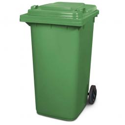 Müllbehälter, 240 Liter, grün, BxTxH 580 x 730 x 1075 mm, Polyethylen (PE-HD)