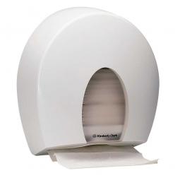 Handtuchspender, aus Kunststoff, weiß, BxTxH 370x160x410 mm, mit großem Sichtfenster