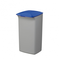 Abfall- und Wertstoffsammler mit Schanierdeckel, HxBxT 640x366x320 mm, 40 Liter, grau/blau