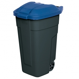 Rolltonne, PP, BxTxH 510 x 550 x 850 mm, 100 Liter, anthrazit/blau
