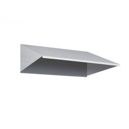 Schrägdach-Aufsatz für Schränke BxH 600 x 240 mm, lichtgrau