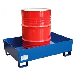 AW2S-O Stahl-Auffangwanne, Tragkraft: 800 kg, LxBxH 1235 x 815 x 350 mm, Oberfläche in blau (RAL 5010)