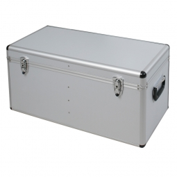 Alurahmen-Transportbox, Inhalt 100 Liter, LxBxH 730x380x360 mm, abschließbar, Farbe silber