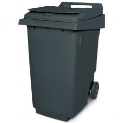 Müllbehälter, 360 Liter, grau, BxTxH 600 x 875 x 1100 mm, Polyethylen (PE-HD)