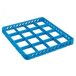 Aufsatzrahmen für Spülkörbe blau LxB 500x500 mm, Nutzhöhe 40 mm, lichtes Fachmaß 112x112 mm
