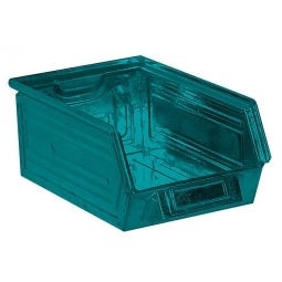 Sichtbox SB6 aus Stahlblech, 8,5 Liter, LxBxH 350/300 x 200 x 145 mm, blaugrün